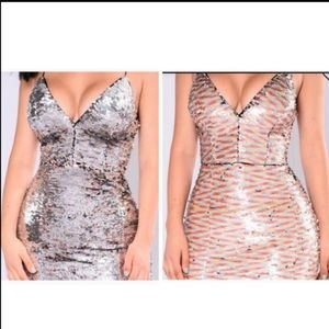 Sequin dress form fitting